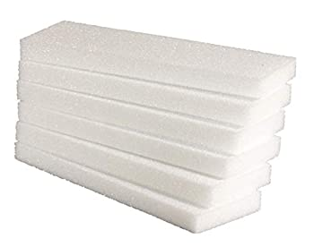 Hygloss Products White Styrofoam Blocks - for Projects Arts & Crafts 4 by 12 by 1-Inch Pack of 6