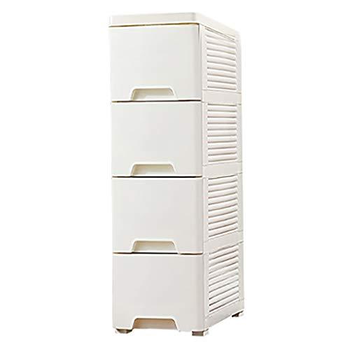 Lw Shelf 4 Capas de 20 cm de Ancho Estrecho gabinete, cajón Tipo de baño de plástico Locker Estante de la Cocina (Color : A4)