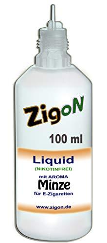 ZigoN E Liquid PP für E Zigaretten Shisha Verdampfer MINZE 100 ml