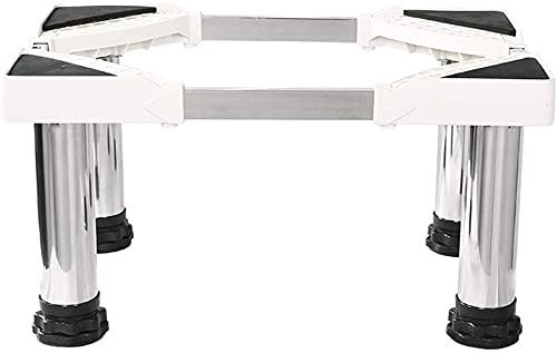 TabloKanvas - Base verticale per lavatrice con base per condizionatore d'aria, 4 piedini robusti (dimensioni: 29-32 cm)