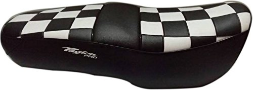 kmltail Ultra Design Super fit Professional Rexine Seat Cover Suitable for Hero Passion Pro with Threaded Finish - Chess Board Style