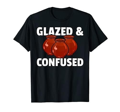 Cerámica esmaltada y confundida de regalo para artistas de olla Camiseta