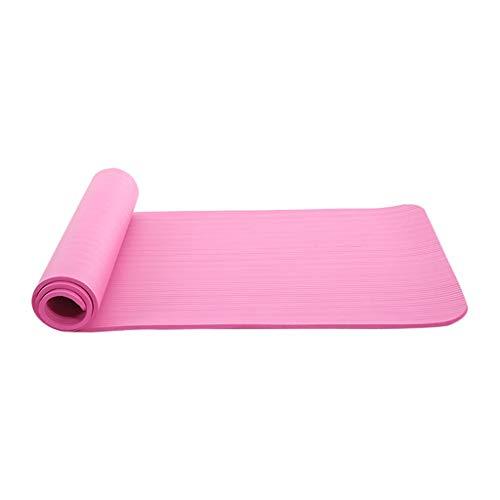 MOTOCO Yogamatte Fußmatten aus Hochdichtem Schaumstoff rutschfest Trainingsmatte – 183X60X1CM – für Gym Yoga Sport Gymnastik Fitness Pilates(180X60X1CM.Rosa)