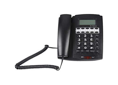 Teléfonos fijos con Cable para el hogar, Teléfono con Cable de Escritorio con Pantalla LCD Cancelación de Ruido Phone Support Función de Silencio con 3 alarmas de Grupo