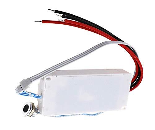BIYM Interruptor de luz sin contacto del interruptor del sensor de movimiento del IR encendido/apagado para el adaptador de luz de las puertas del gabinete 250V