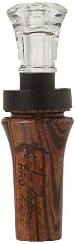 Duck Commander Jase Robertson Pro Series Duck Call, Tiger Wood- Double Reed Makes Piercing High To Raspy Low Tones, Duck Hunting Realistic Sound Mouth Call, Duck Dynasty
