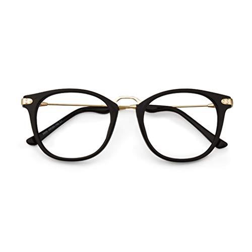 Verakee Leesbril, retro glazen frame, mannenbril, ronde gezicht leesbril, verkrijgbaar in twee soorten (kleur: goud, maat: 1,5x)
