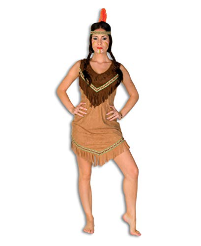 TH-MP Squaw Indianerin Kostüm beige mit Fransen Damenkostüm Indianerkostüm Faschingskostüm Mottoparty Wilder Westen (34)