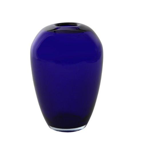 Verre Vase Glass Design Guarniciones Glanzlackierung blauen Farbe Kobaltblau.