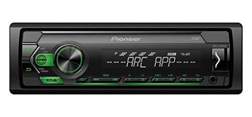 Pioneer MVH-S120UBG, 1DIN Autoradio mit RDS, grün, halbe Einbautiefe, 4x50Watt, USB, MP3, AUX-Eingang, Android-Unterstützung, 5-Band Equalizer, ARC App