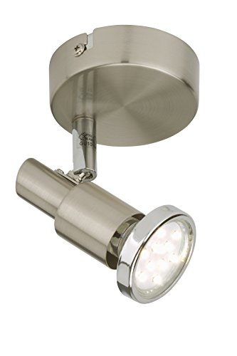 Briloner Leuchten LED Wandleuchte, LED-Spot dreh- & schwenkbar, Decken- & Wand-Lampe, Metall, Strahler inkl. LED-Leuchtmittel, 3 W, 10.5 x 11 x 12 cm