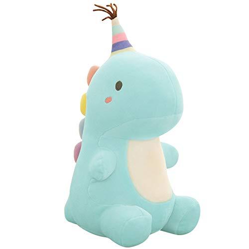 Cartoon Soft Dinosaur Plüsch Spielzeug Lendenwirbel Rücken Kissen 3D Kissen Kreatives Geschenk 23cm Kleine 23cm süße sitzende Dinosaurierpuppe blau