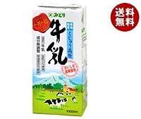 九州乳業 みどり くじゅう高原牛乳 1000ml紙パック×12(6×2)本入×(2ケース)
