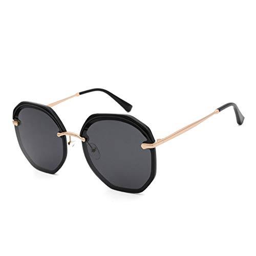 Asncnxdore Gafas De Sol Polarizadas De Gafas De Sol con Montura De Cejas De UV400 De Medio Fotograma Gafas De Sol Decorativas Multilaterales