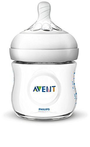 Philips Avent Natural Baby Bottle, Clear, 4oz, 1pk, SCF010/17