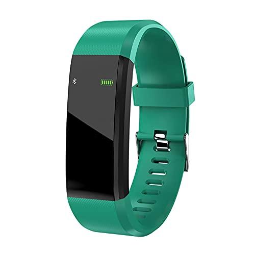 Reloj inteligente inteligente resistente al agua IP67 Deportivo Smart WatchTracker 115Plus pulsera de actividad, pulsómetro, podómetro, monitor de sueño para Android iOS