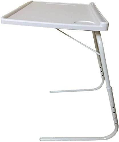 Mesa Plegable Auxiliar, Mesa portatil con sujeción para Tablet Vaso y bolígrafo Mesa Auxiliar Plegable de salón para...