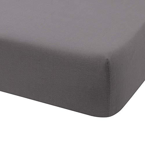Hoeslaken Jersey 100% Katoen voor bed 180x190 / 200 Anthracite