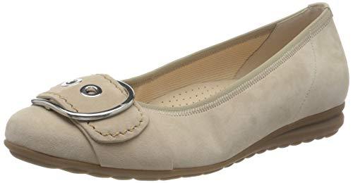 Gabor Shoes Damen Comfort Sport Geschlossene Ballerinas, Beige (Desert 34), 36 EU