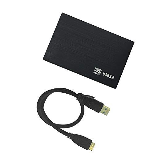 HWAYO Ultra Slim Externe Festplatte USB 3.0 6,35 cm (2,5 Zoll) HDD-Speicher für PC/Desktop/Laptop/MacBook/Chromebook/Xbox One Spiele (schwarz) Schwarz schwarz 80GB