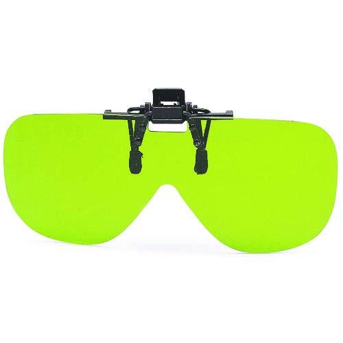 山本光学 YAMAMOTO YE-409 はね上げ(フリップアップ)式 クリップオン 遮光タイプ 自分の眼鏡に装着 クリップ式 セルロース #1.7 日本製 紫外線カット