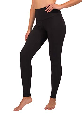 90 Degree By Reflex High Waist Squat Proof Interlink Leggings for Women - Black - Medium