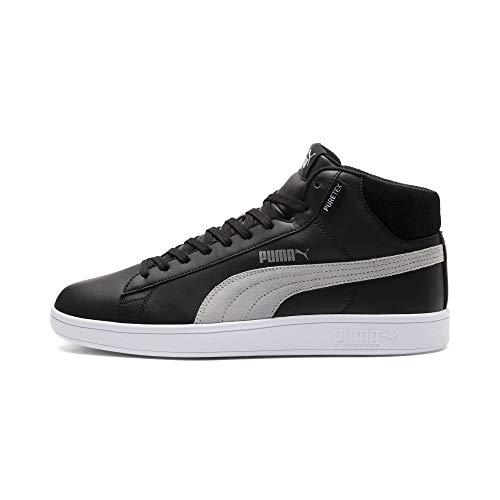 Puma Unisex Sneaker Smash v2 Mid PureTEX 367853 Puma Black-Quarry-Puma White 37.5