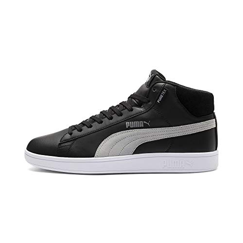 PUMA Smash v2 Mid PureTEX High-Tops Puma Black-Quarry-Puma White UK 7.5_Adults_FR 41