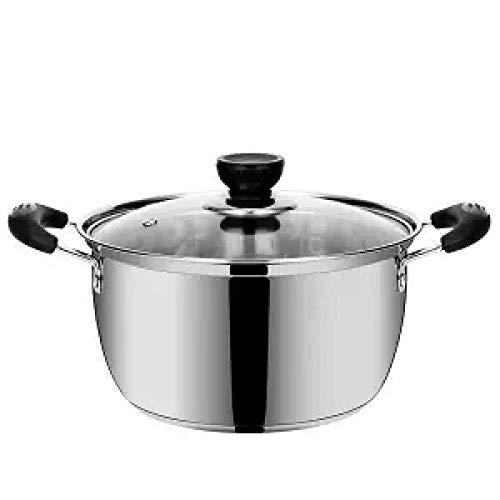 Marmite marmite à soupe antiadhésifs Pot Petit Hot Pot marmite à soupe Porridge pratique Hot Pot gaz chaud Pot Boiling Pot instantané, 16cm 1.0L Huangwei7210 (Color : 18cm 1.5l)