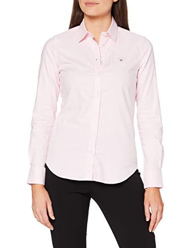 GANT Stretch Oxford-Solid Shirt Blusa para Mujer
