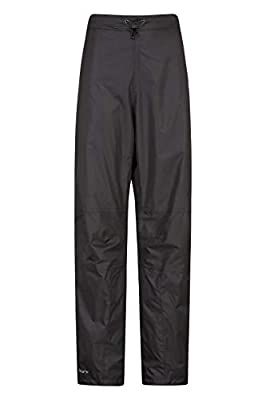 Mountain Warehouse Spray Womens Short Waterproof Over Trousers - Mesh Lined Ladies Over Pants, Taped Seams, Half Zip, Walking Rain Pants - for, Travelling, Hiking