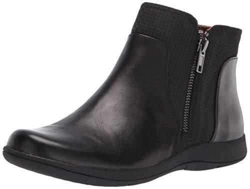 Rockport womens Rockport Women's Tessie Zip Bootie Ankle Boot, Black, 9.5 Wide US