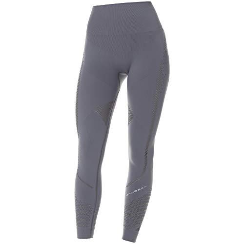 BRUBECK Legging pour femme   Pantalon de course respirant sans coutures   Legging respirant sans coutures   Pantalon de fitness pour femme   Legging de sport long moulant   Pantalon de yoga   Pilates   Gris   Taille M   LE12910