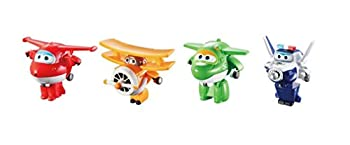 Super Wings - Transform-a-Bots 4 Pack | Jett Paul Mira Grand Albert | 2  Scale Action Figure | Fun Preschool Airplane Toy for 3 4 5 Year Old Boys and Girls | Alpha Group