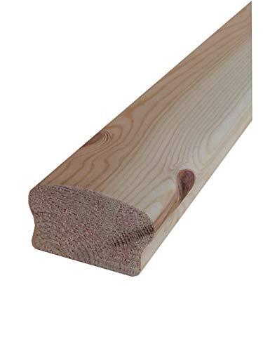Corrimano in legno di pino massiccio non trattato mm. 68x40x3000 (prezzo per ml. 3,00)
