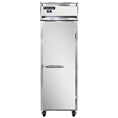 Continental Refrigerator 1F-LT-SA Single Section Reach in Low Temp Freezer with Stainless Exterior
