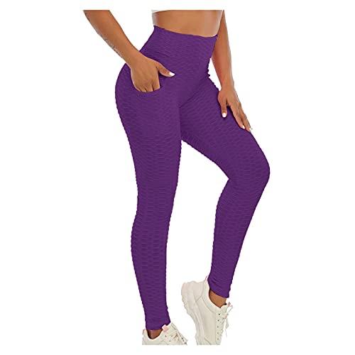 CXDS Yoga-Leggings mit Tasche, klassische Bauchkontrolle, mittlere Taille, Laufhose, Workout-Strumpfhose für Damen