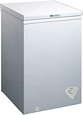 WHS-129C1 Single Door Chest Freezer, 3.5 Cubic Feet, White