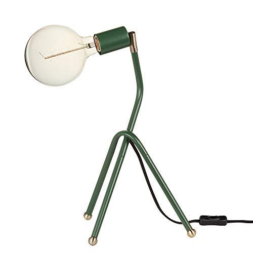 Novogratz x Globe Electric Novogratz x Globe Perry Lámpara de escritorio de 16 pulgadas, Eden Green, cable de tela negra, interruptor de encendido/apagado en línea 67337