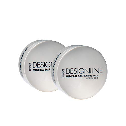 Mineral Salt Texture Paste, 2 oz - Regis DESIGNLINE - Ultimate Multi-Tasking Styling Paste with Semi-Matte Finish for Damp, Dry, Long, or Short Hair (2 oz (2 Pack))