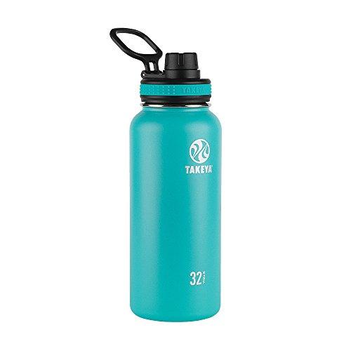 Takeya 50015 Originals Vacuum-Insulated Stainless-Steel Water Bottle, 32oz, Ocean, 32 oz