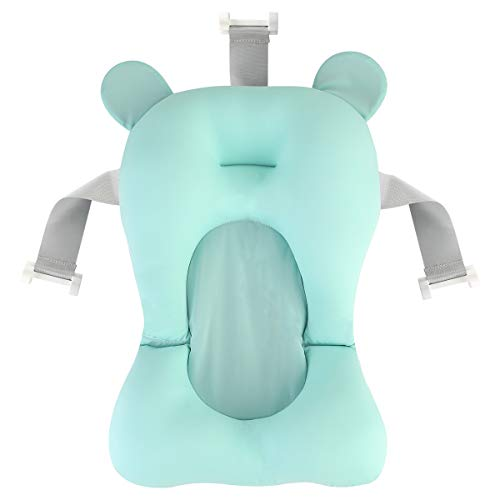 Josopa Baby-Badewannen-Pad Neugeborenen-Badewannen-Pad Baby-Badewannen-Kissensitz Rutschfeste Badewannen-Pad Baby-Dusche Schwimmendes Badebett
