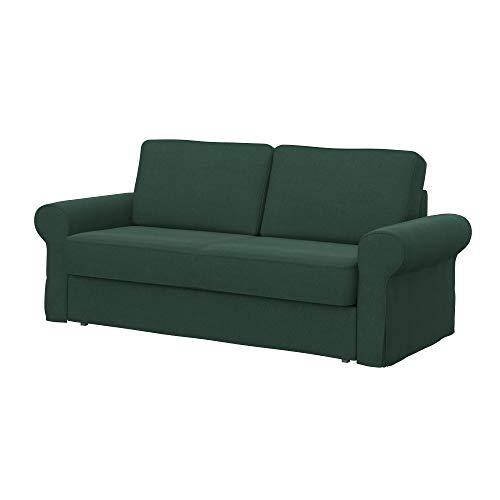 Soferia Funda de Repuesto para IKEA BACKABRO sofá Cama de 3 plazas, Tela Elegance Mineral, Gris