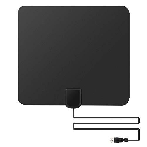 Inomhusantenn antenn HD TV Fox Scout Mini tunn platt HDTV VHF UHF DTV 75 Miles Audio Video Tillbehör