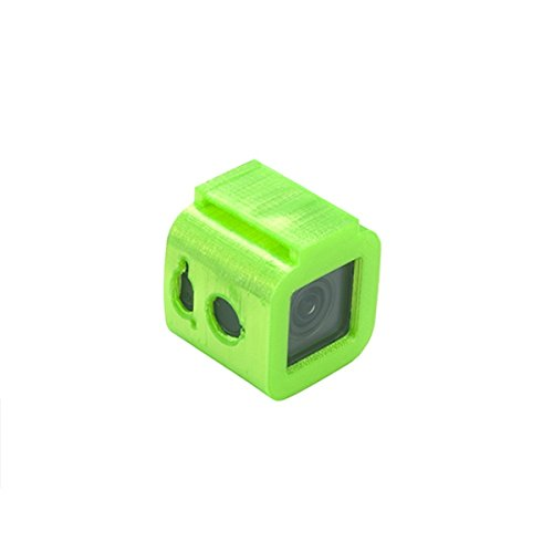VIDOO Kamera Mount TPU Schutzhülle 3D gedruckt für FOXEER Box Box 24K FPV RC Racing Drone grün schwarz-Schwarz