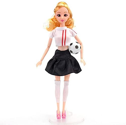 XinYiC Fashion Dolls Toys Clothes Accessories Ball Jersey Outfits - 11.5 Inch Girl Dolls with Sports Costume Mini Football - #D