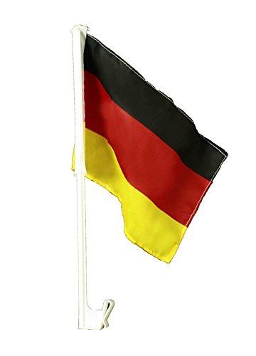 HAAC Autofahne Fahne Flagge für Auto in Deutschlandsfarben Deutschland Länge 38 cm Fußball EM 2016