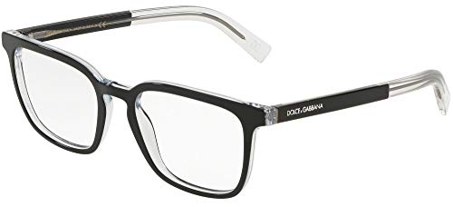 Dolce&Gabbana DG3307 Eyeglass Frames 675-53 - Top Black On Crystal DG3307-675-53