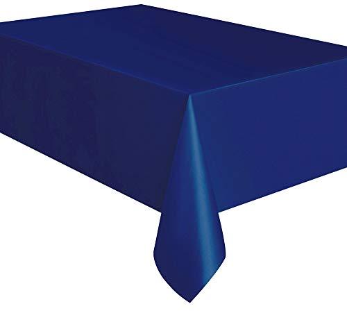 Kunststoff-Tischdecke - 2,74 m x 1,37 m - Marineblau