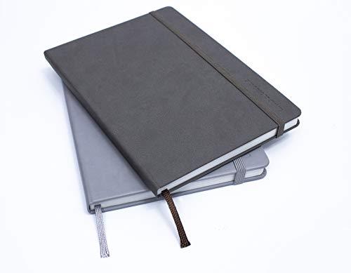 Livescribe Smart Journal, liniert, A5-Größe, 2 Stück (Grau & Schwarz)